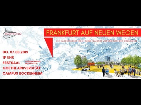 """""""Frankfurt auf neuen Wegen""""- Präsentation der Radnetzplanung (07.03.2019)"""