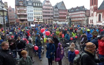 So schnell geht uns die Luft nicht aus! – This was the Radentscheid demo on January 27, 2019