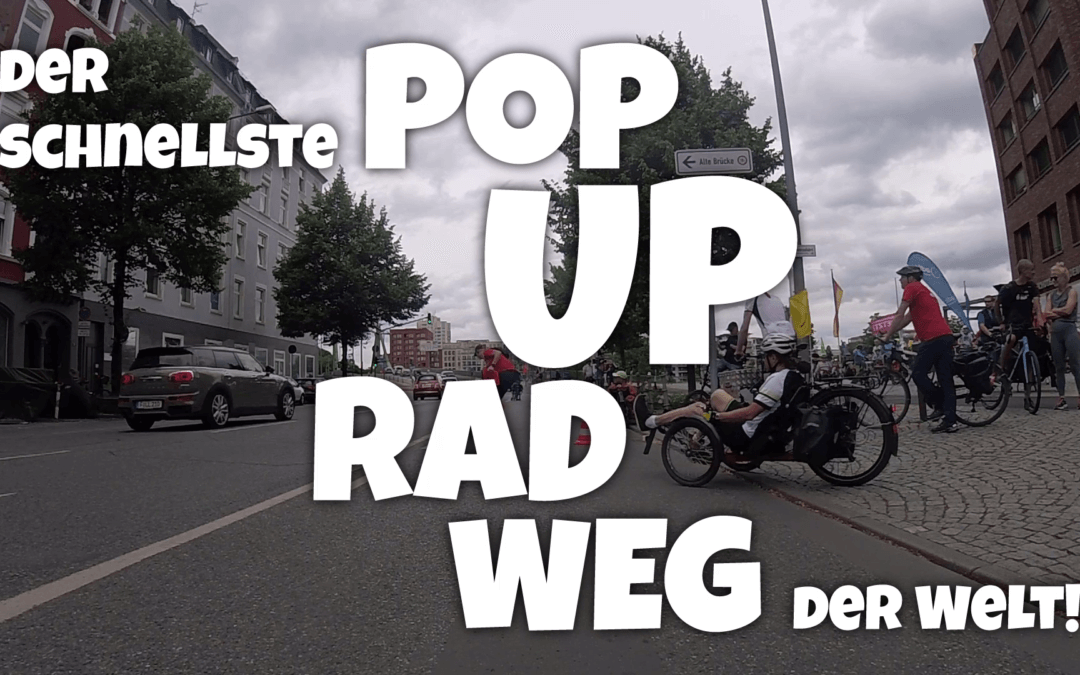 Der schnellste Pop-Up-Radweg der Welt!