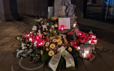 Fahrrad-Gedenkfahrt für die Unfallopfer der Oskar-von-Miller-Straße