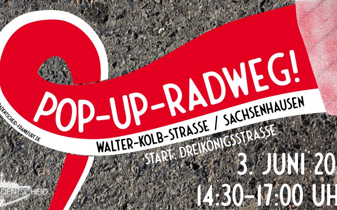 Pop-Up-Radweg Walter-Kolb-Straße!