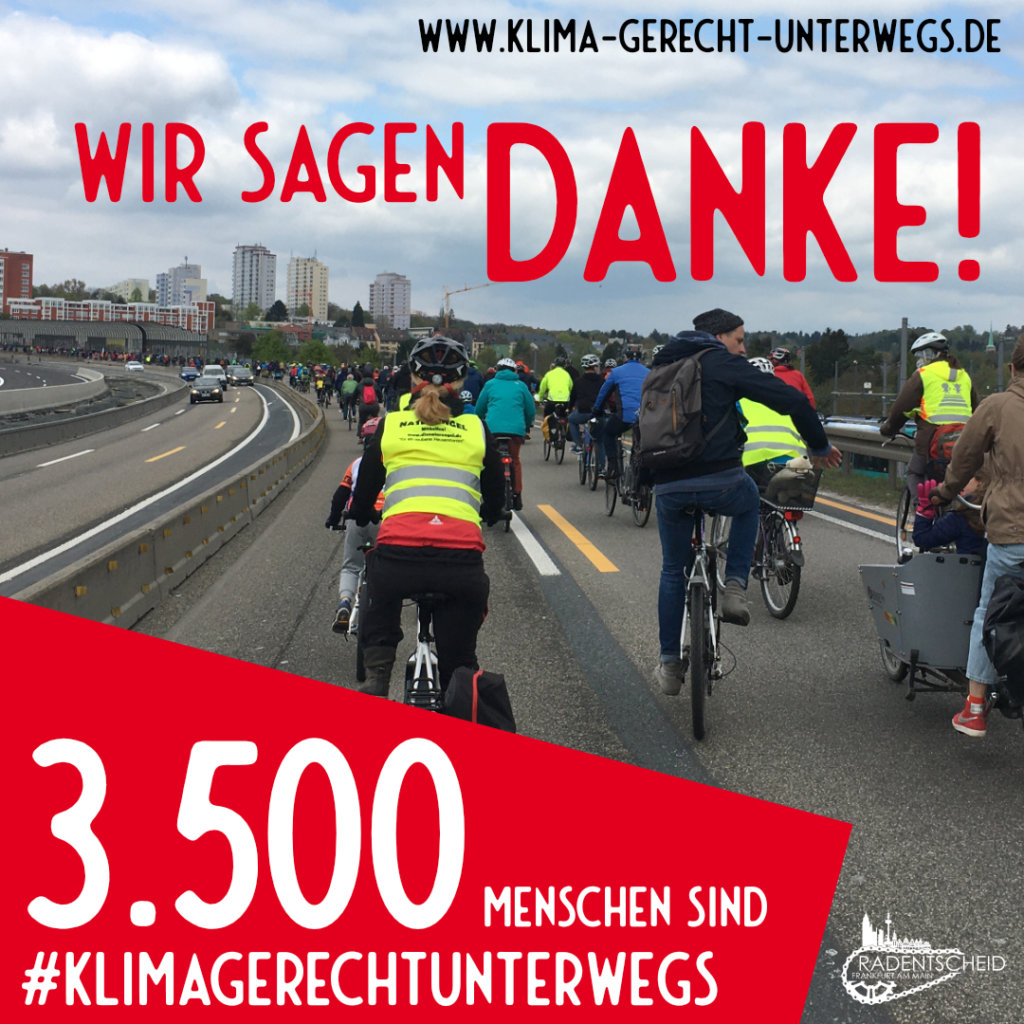 3.500 Menschen sind Klimagerecht Unterwegs!